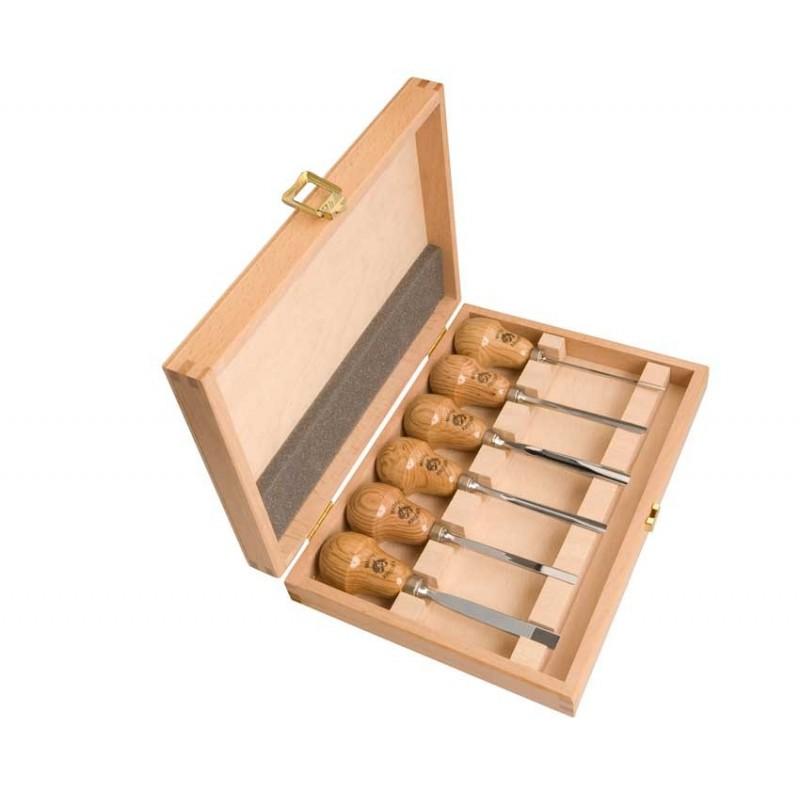 Juego de gubias mango de pera kirschen en caja de madera - Gubias para madera ...